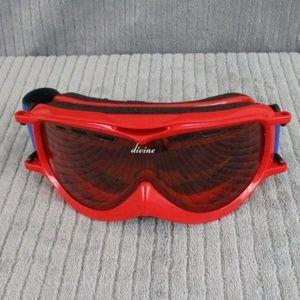 FROST Snow Goggles - Shiny Red w/Amber Lens
